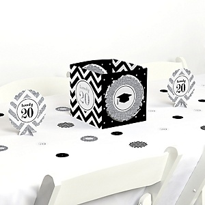 Tassel Worth The Hassle - Silver - 2020 Graduation Party Centerpiece & Table Decoration Kit
