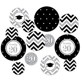 Tassel Worth The Hassle - Silver - 2020 Graduation Party Table Confetti - 27 ct
