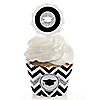 Tassel Worth The Hassle - Silver - Graduation - Cupcake Wrapper & Pick Party Kit - Set of 24