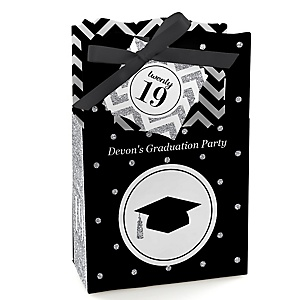 Tassel Worth The Hassle - Silver - Personalized 2019 Graduation Favor Boxes - Set of 12