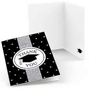 Tassel Worth The Hassle - Silver - Graduation Party Thank You Cards - 8 ct