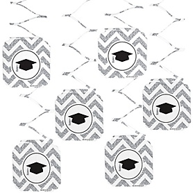 Tassel Worth The Hassle - Silver - Graduation Party Hanging Decorations - 6 ct