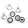 Tassel Worth The Hassle - Silver - Round Candy Labels 2019 Graduation Party Favors - Fits Hershey's Kisses 108 ct