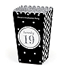 Tassel Worth The Hassle - Silver - Personalized 2019 Graduation Popcorn Favor Treat Boxes - Set of 12