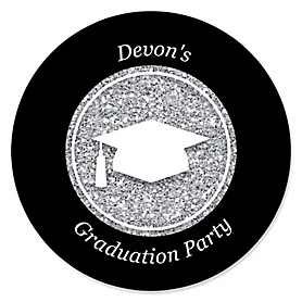 Tassel Worth The Hassle - Silver - Personalized Graduation Sticker Labels - 24 ct