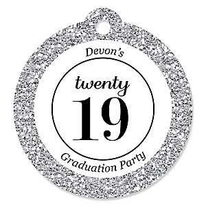 Tassel Worth The Hassle - Silver - Personalized 2019 Graduation Party Tags - 20 ct