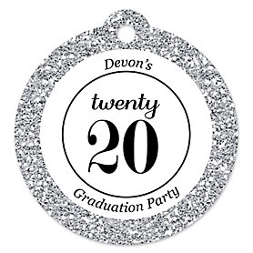 Tassel Worth The Hassle - Silver - Personalized 2020 Graduation Party Tags - 20 ct