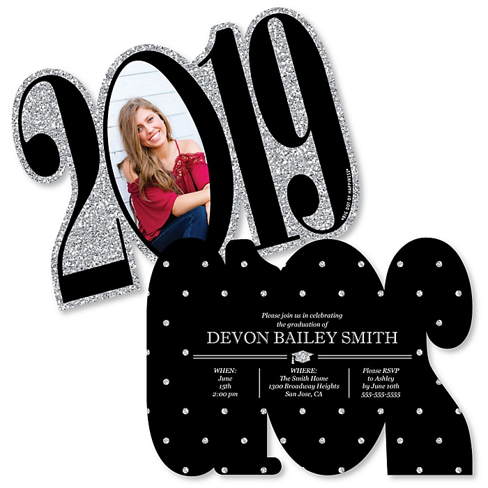 Tassel Worth The Hassle - Silver - Personalized 2019 Photo Graduation Announcement - Set of 12