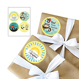 Teacher Appreciation Christmas Gift Stickers - Last Day of School Gifts for Teachers - 4 Piece