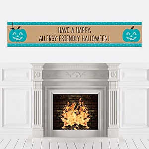 Teal Pumpkin - Personalized Halloween Allergy Friendly Trick or Trinket Banner