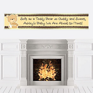 Baby Teddy Bear - Personalized Baby Shower Banners