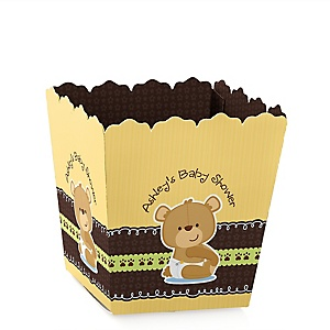 Baby Teddy Bear - Party Mini Favor Boxes - Personalized Baby Shower Treat Candy Boxes - Set of 12