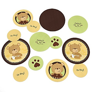 Baby Teddy Bear - Personalized Baby Shower Table Confetti - 27 ct