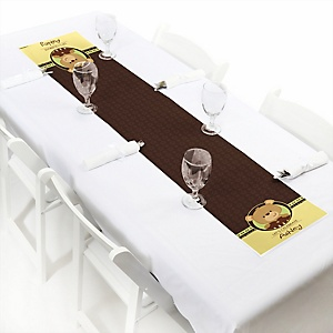 Baby Teddy Bear - Personalized Baby Shower Petite Table Runner