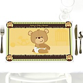 Baby Teddy Bear - Personalized Baby Shower Placemats