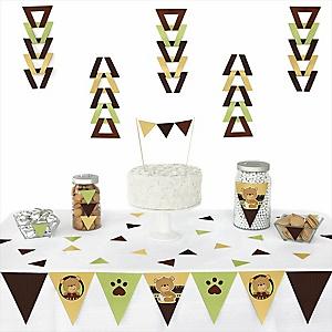 Baby Teddy Bear -  Triangle Party Decoration Kit - 72 Piece