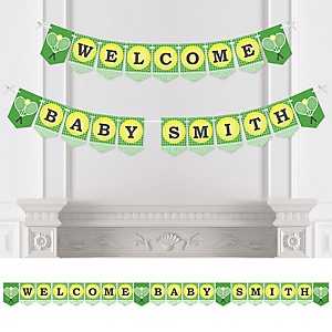 You Got Served - Tennis - Personalized Baby Shower or Birthday Party Bunting Banner & Decorations