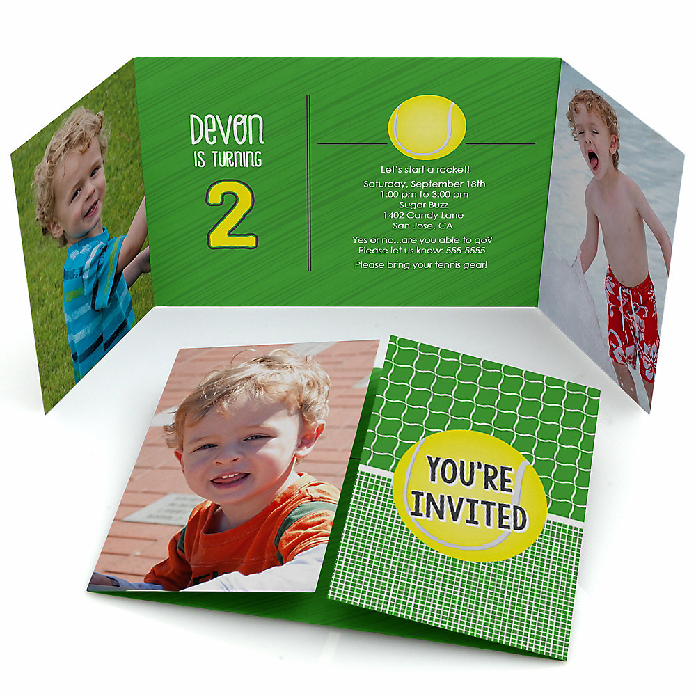 You Got Served - Tennis - Personalized Birthday Party Photo Invitations