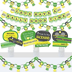 You Got Served - Tennis - Banner and Photo Booth Decorations - Baby Shower or Tennis Ball Birthday Party Supplies Kit - Doterrific Bundle
