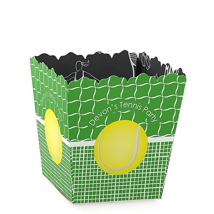 You Got Served - Tennis - Party Mini Favor Boxes - Personalized Baby Shower or Birthday Party Treat Candy Boxes - Set of 12