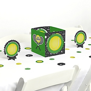 You Got Served - Tennis - Baby Shower or Tennis Ball Birthday Party Centerpiece and Table Decoration Kit