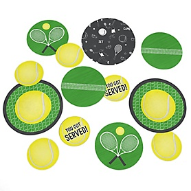 You Got Served - Tennis - Baby Shower or Birthday Party Giant Circle Confetti - Party Decorations - Large Confetti 27 Count