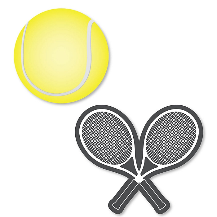 You Got Served - Tennis - DIY Shaped Baby Shower or Birthday Party Cut-Outs - 24 ct