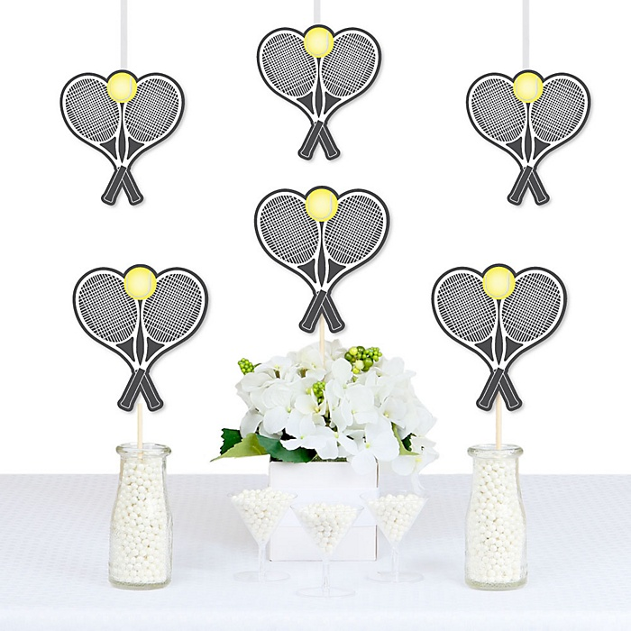 You Got Served - Tennis - Decorations DIY Baby Shower or Birthday Party Essentials - Set of 20