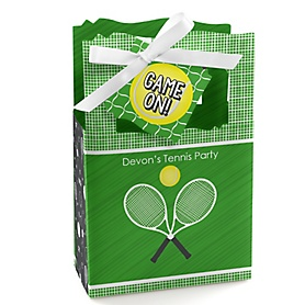 You Got Served - Tennis - Personalized Baby Shower or Birthday Party Favor Boxes - Set of 12