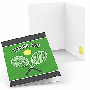You Got Served - Tennis - Baby Shower or Birthday Party Thank You Cards - 8 ct