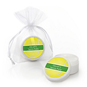 You Got Served - Tennis - Personalized Baby Shower or Birthday Party Lip Balm Favors - Set of 12