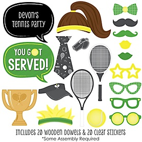 You Got Served - Tennis - 20 Piece Baby Shower or Birthday Party Photo Booth Props Kit
