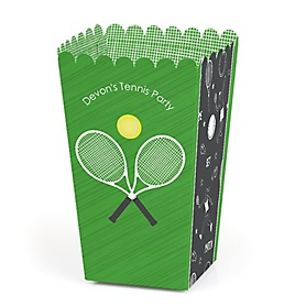You Got Served - Tennis - Personalized Baby Shower or Birthday Party Popcorn Favor Treat Boxes - Set of 12