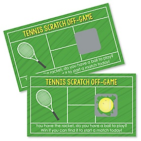 You Got Served - Tennis - Baby Shower or Birthday Party Scratch Off Cards - 22 Cards