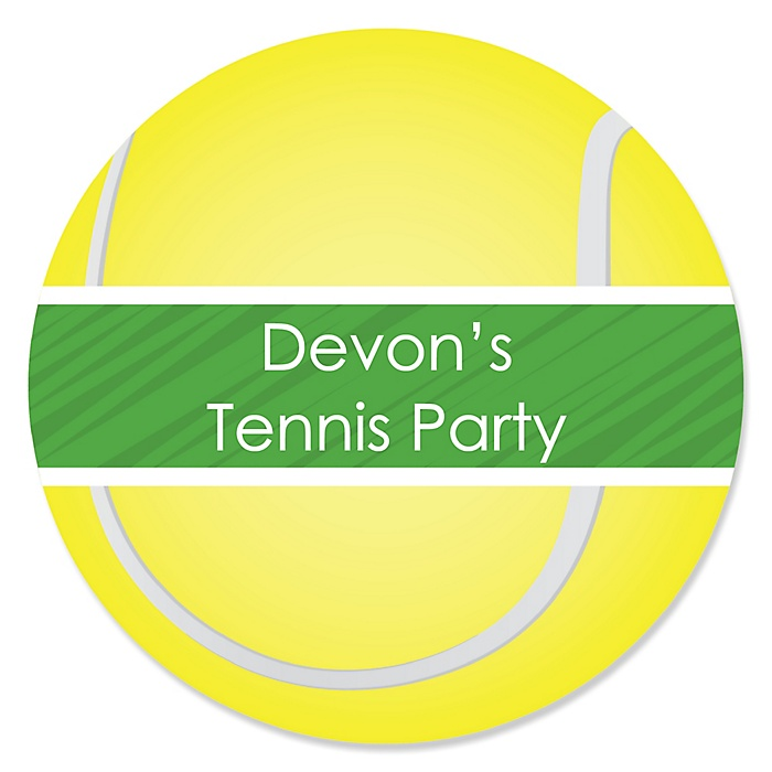 You Got Served - Tennis - Personalized Baby Shower or Birthday Party Sticker Labels - 24 ct