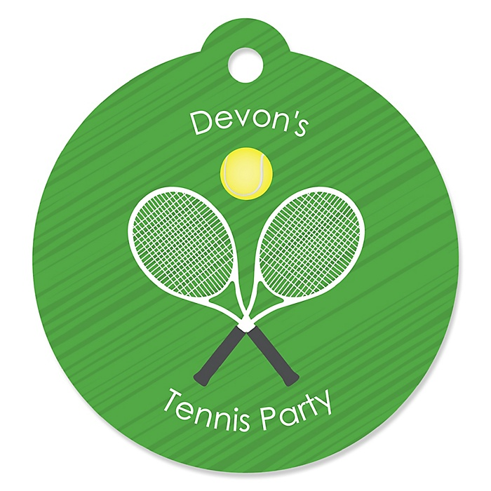 You Got Served - Tennis - Personalized Baby Shower or Birthday Party Favor Gift Tags - 20 ct