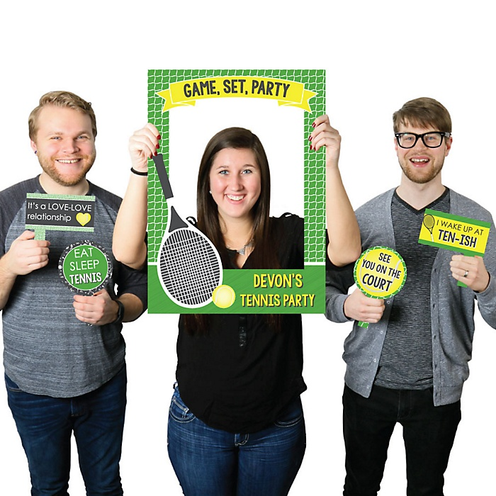 You Got Served - Tennis - Personalized Baby Shower or Birthday Party Selfie Photo Booth Picture Frame & Props - Printed on Sturdy Material