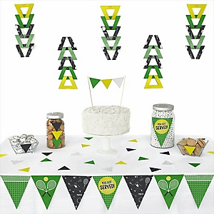 You Got Served - Tennis -  Triangle Baby Shower or Birthday Party Decoration Kit - 72 Piece