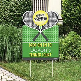 You Got Served - Tennis - Party Decorations - Baby Shower or Birthday Party Personalized Welcome Yard Sign
