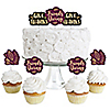 Elegant Thankful for Friends - Dessert Cupcake Toppers - Friendsgiving Thanksgiving Party Clear Treat Picks - Set of 24