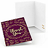 Elegant Thankful for Friends - Set of 8 Friendsgiving Party Thank You Cards