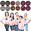 Elegant Thankful for Friends - Friendsgiving Party Funny Name Tags - Party Badges Sticker Set of 12