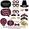 Elegant Thankful for Friends - 20 Piece Friendsgiving Photo Booth Props Kit