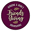 Elegant Thankful for Friends - Personalized Round Friendsgiving Thanksgiving Party Sticker Labels - 24 ct
