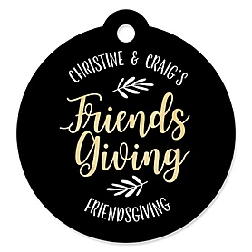Elegant Thankful for Friends - Personalized Friendsgiving Party Favor Gift Tags  - 20 ct