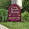 Elegant Thankful for Friends - Party Decorations - Friendsgiving Party Personalized Welcome Yard Sign