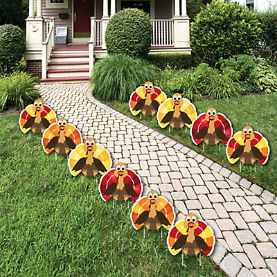 Thanksgiving Turkey - Turkey Lawn Decorations - Outdoor Fall Harvest Yard  Decorations - 10 Piece | BigDotOfHappiness.com - Thanksgiving Turkey - Turkey Lawn Decorations - Outdoor Fall Harvest