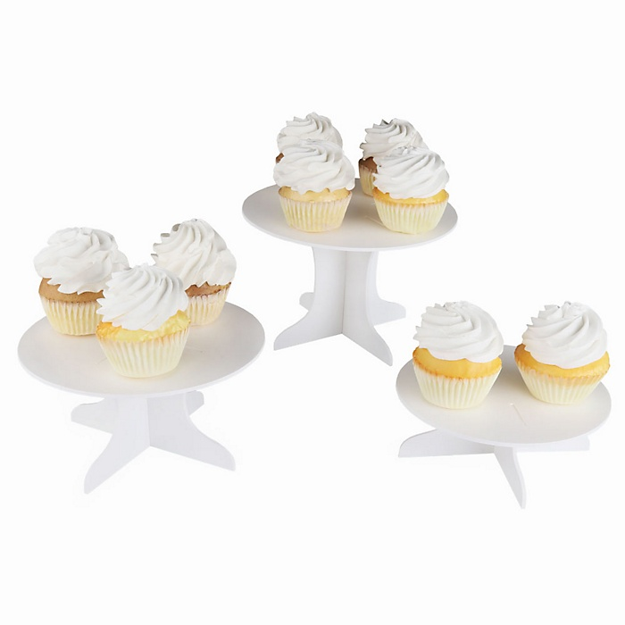 Three Piece Dessert Stand Set – Party DIY Round Display Stand