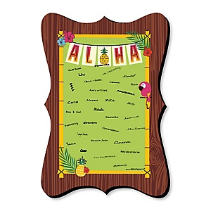 Tiki Luau - Unique Alternative Guest Book - Tropical Hawaiian Summer Party Signature Mat
