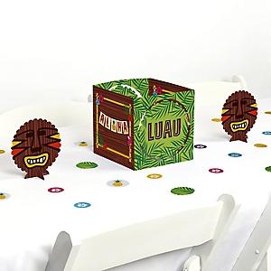 Tiki Luau - Tropical Hawaiian Summer Party Centerpiece & Table Decoration Kit